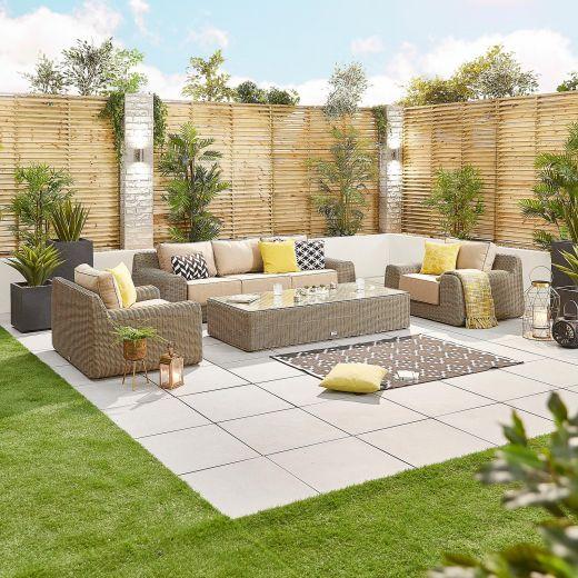 Luxor 3 Seater Sofa Set - Willow