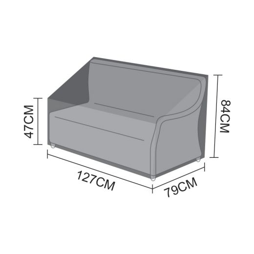 Cover for Oyster Right Handed 2 Seater Sofa Section