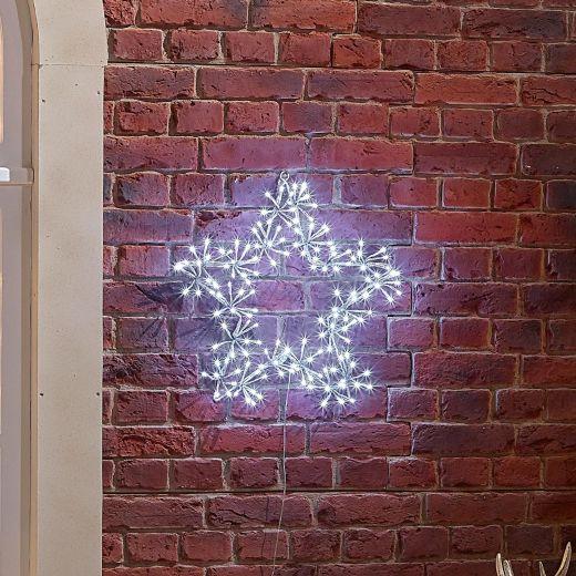 50cm Starburst Christmas Star - Cool White