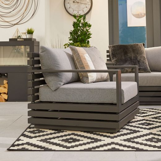 San Marino Aluminium Armchair - Grey Frame