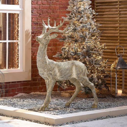 Buck the 130cm Gold Christmas Reindeer