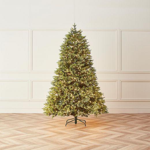 8ft Pre-Lit Lodgepole Fir Artificial Christmas Tree