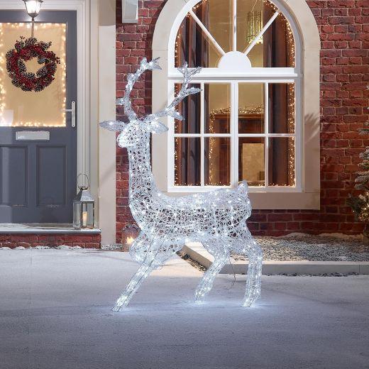 Eyal the 140cm Soft Acrylic Christmas Reindeer