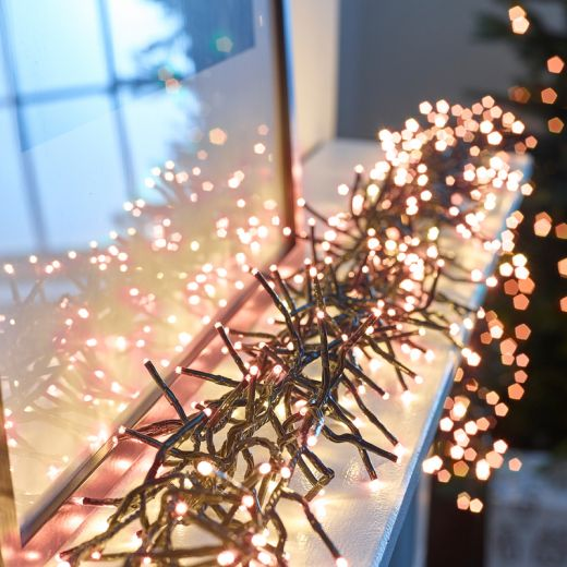 960 Copper Glow LED Cluster Christmas Lights (13.9m Lit Length)