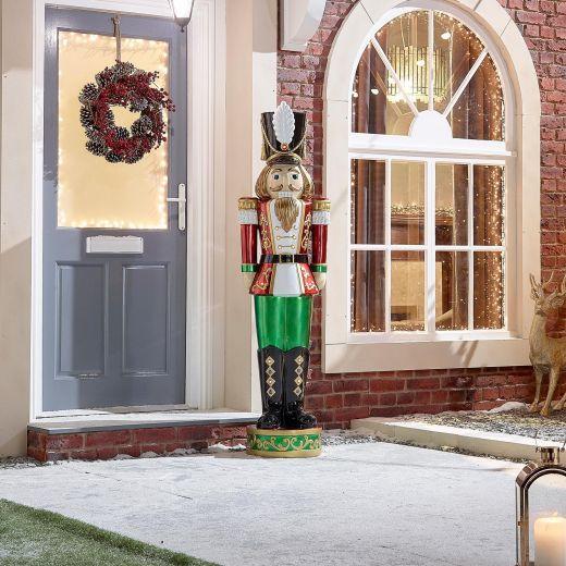 Klaus the 5.5ft LED Christmas Nutcracker