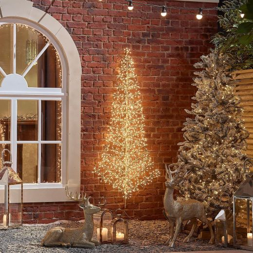 150cm Starburst Christmas Tree - Warm White