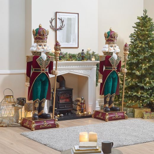Pair of 6ft Nutty the Christmas Nutcrackers