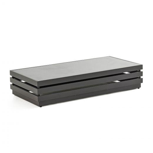 San Marino Aluminium Rectangular Coffee Table - Grey Frame