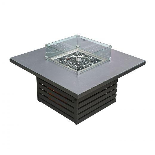 San Marino Aluminium Firepit Table - Grey Frame