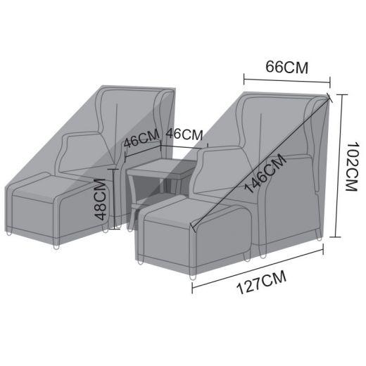 Cover Pack for Nova Skylar Reclining Lounge Set