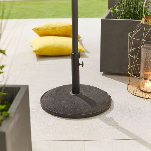 25kg Concrete Parasol Base - Black