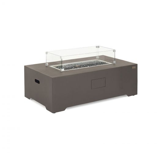 Mars Aluminium Rectangular Gas Fire Pit Coffee Table  - Coffee
