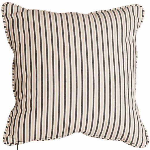 Alexander Rose - 45cm Scatter Cushion - Charcoal Stripe