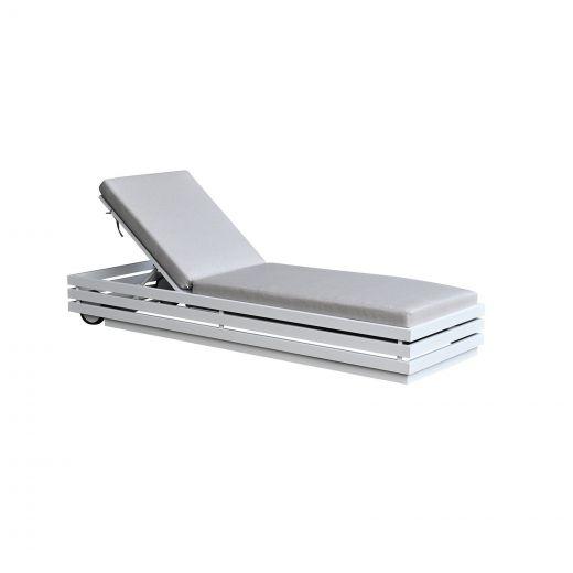 San Marino Aluminium Sunlounger - White Frame