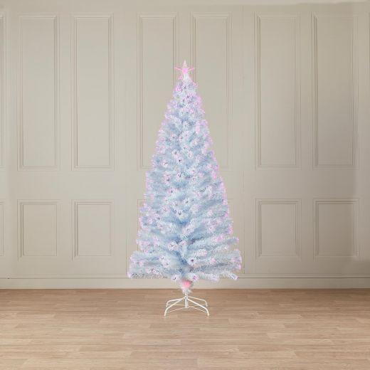 4ft Fibre Optic White & Pink Artificial Christmas Tree