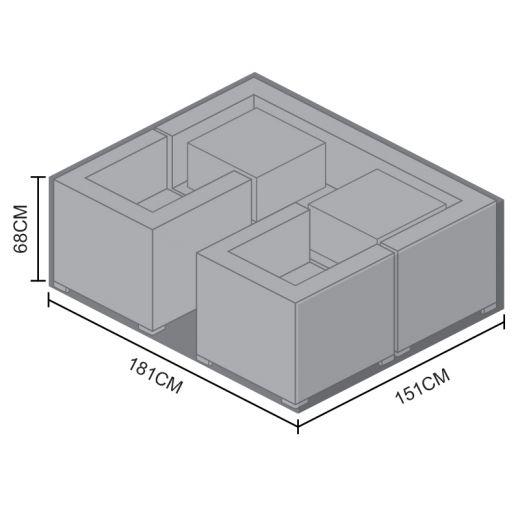 Cover for Maze Rattan 3 Seat Georgia Sofa Set - 181cm x 151cm x 68cm