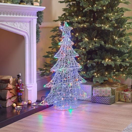 100cm Soft Acrylic Christmas Tree - Multi Coloured