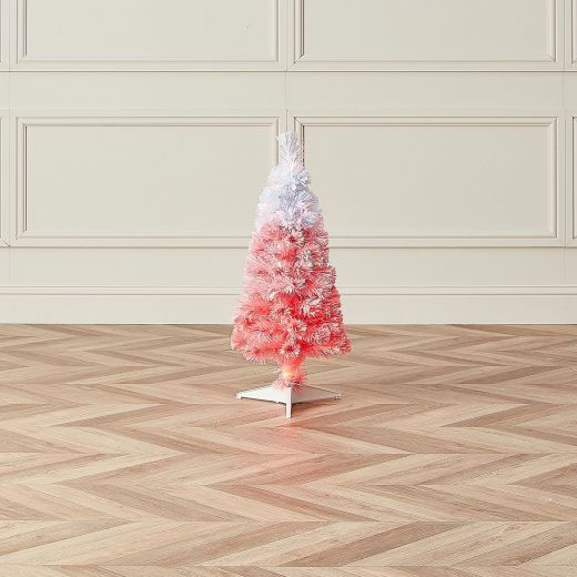 3ft Fibre Optic Eclipse Pink & White Artificial Christmas Tree