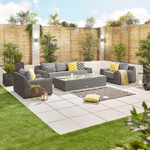 Luxor 3 Seater Sofa Set - Slate Grey