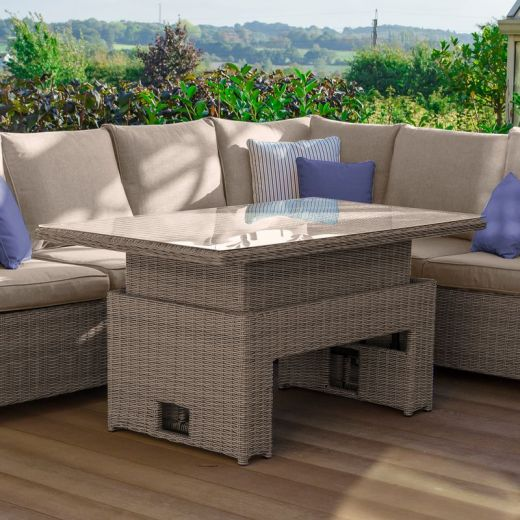 140cm x 80cm Rectangular Rising Casual Dining to Coffee Table (Table Only) - Willow