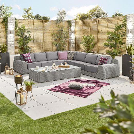 Luxor 3E Corner Sofa Set - White Wash