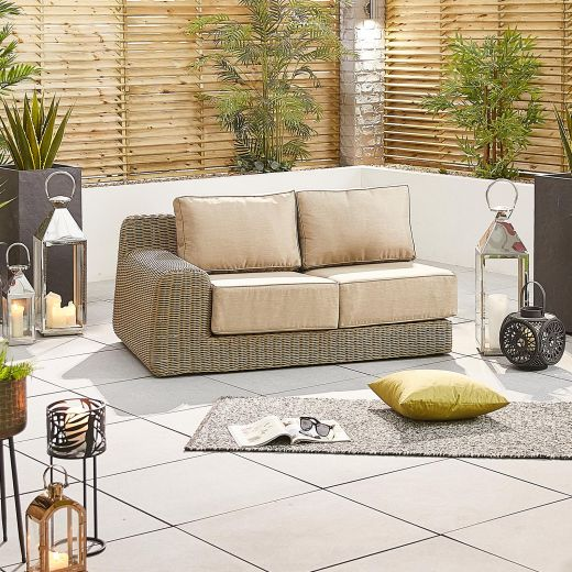 Luxor 2 Seat Right Hand Sofa Section - Willow