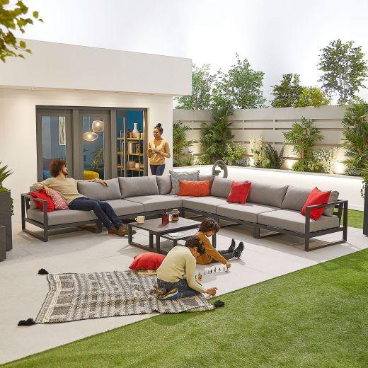 Alessandria Deluxe Aluminium Corner Sofa Set