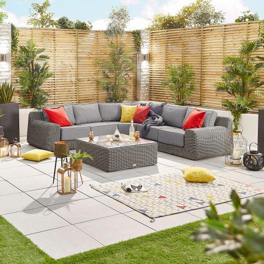 Luxor 2A Corner Sofa Set - Slate Grey