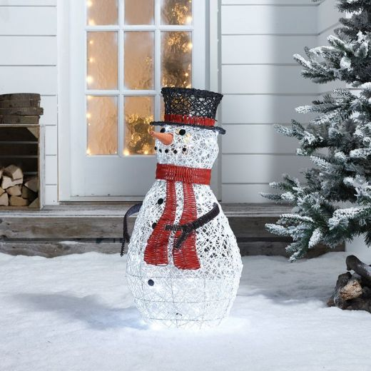 Snowy the 70cm Rattan Christmas Snowman