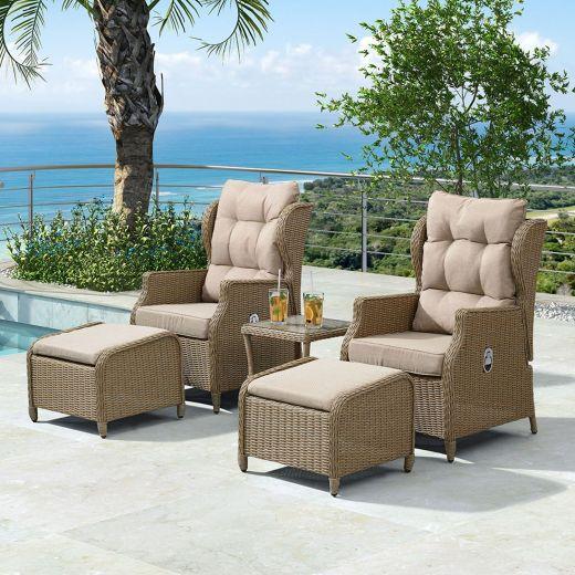 Skylar Reclining Lounge Companion Set - Willow