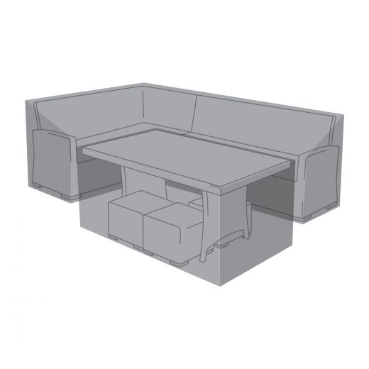 Cover for Left Hand L-Shaped Corner Dining Set