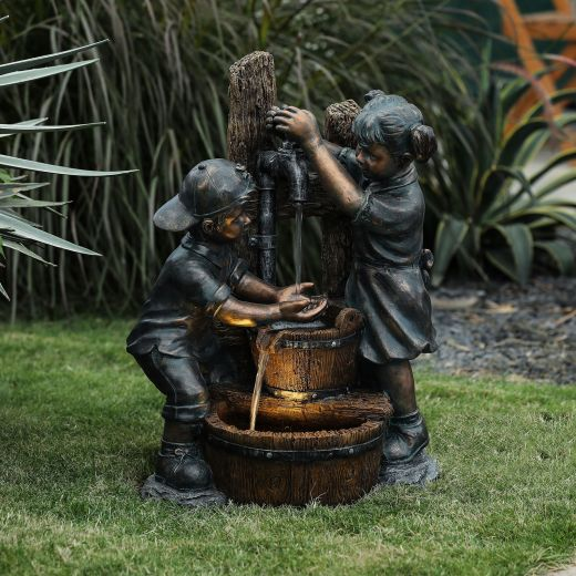 Jack And Jill Garden Tap Water Feature - Bronze