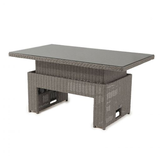 Heritage 140cm x 80cm Rectangular Rising Table (Table Only) - Slate Grey