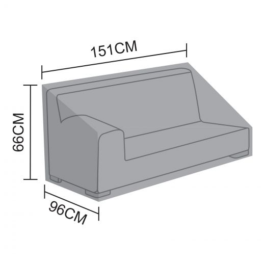 Cover for Luxor Right Hand 2 Seat Sofa Section - 151cm x 96cm x 66cm