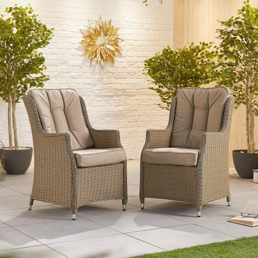 Pair of Thalia Dining Armchairs - Willow