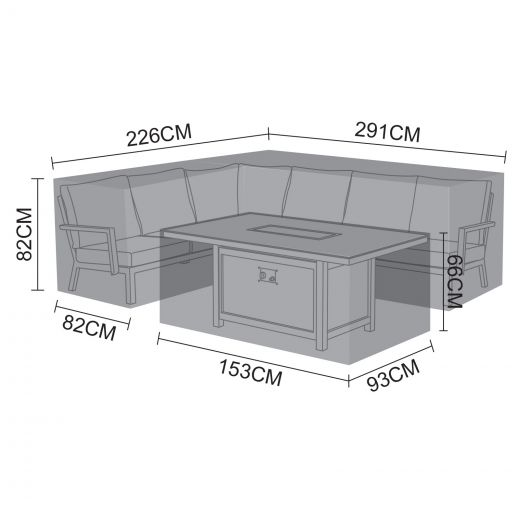 Cover Pack for Vogue Left Hand Corner Dining Set