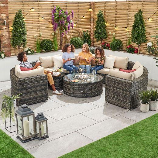 Kensington 2C Rattan Corner Sofa Set - Brown