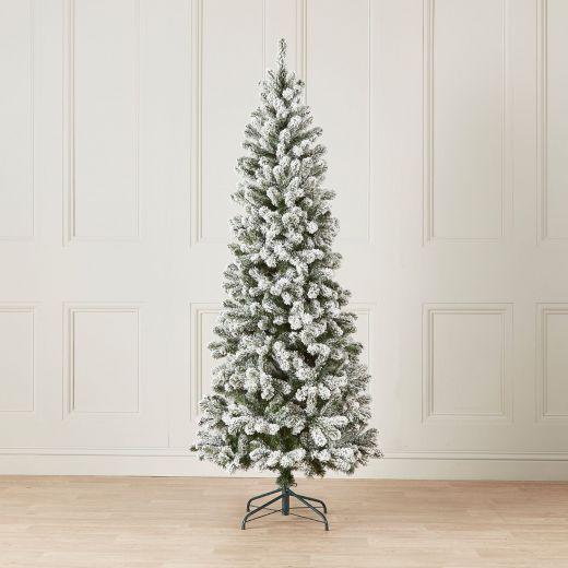 6ft Snowy Slim Balsam Fir Artificial Christmas Tree