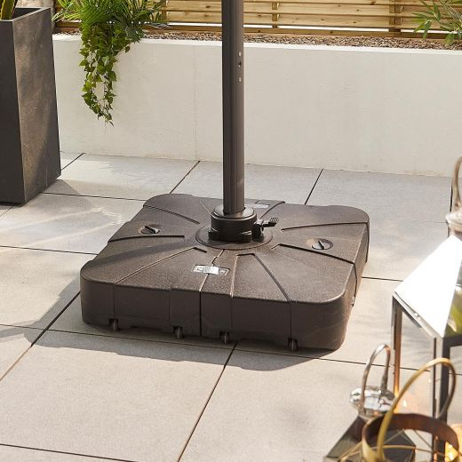 100L Sand & Water Fillable Cantilever Parasol Base with Wheels