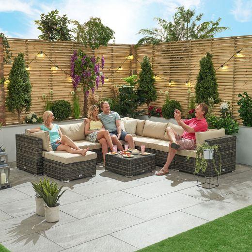 Chelsea 2A Rattan Corner Sofa Set - Brown