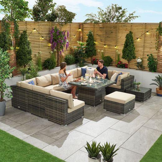Chelsea 3C Rattan Corner Sofa Set - Brown