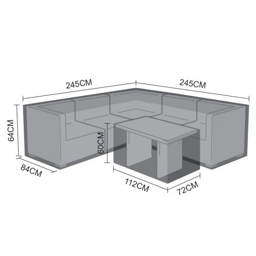 Cover Pack for L-Shaped Chelsea Corner Sofa Set with Small Casual Dining Table