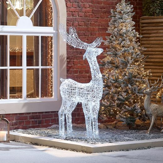 Miracle the 150cm Soft Acrylic Christmas Reindeer