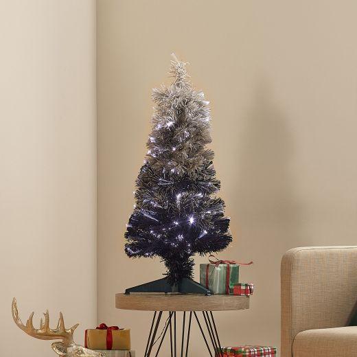 3ft Fibre Optic Grey Eclipse Fade Artificial Christmas Tree