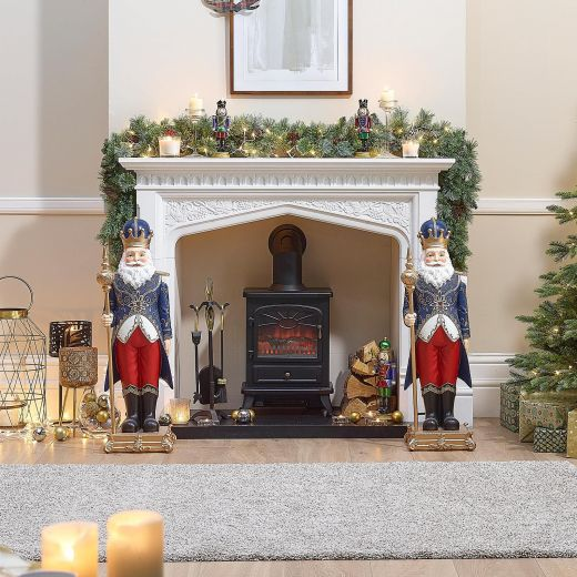 Pair of 3ft Nicholas the Christmas Statues