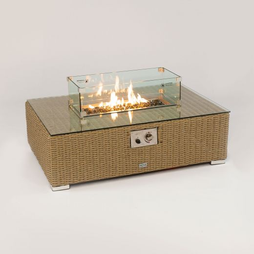 Heritage Chelsea Rectangular Firepit Coffee Table - Willow