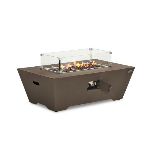 Neptune Aluminium Rectangular Firepit Coffee Table - Coffee