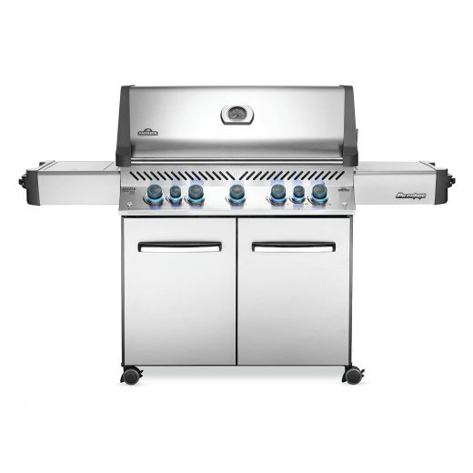 Napoleon - Prestige 665 Propane Gas Grill BBQ with Infrared Side and Rear Burners - Stainless Steel