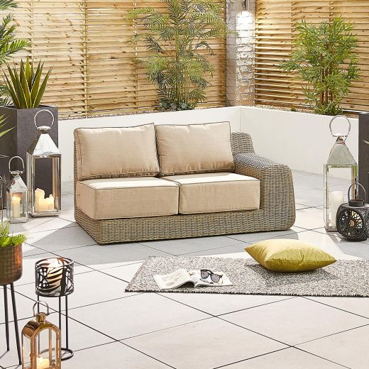 Luxor 2 Seat Left Hand Sofa Section - Willow