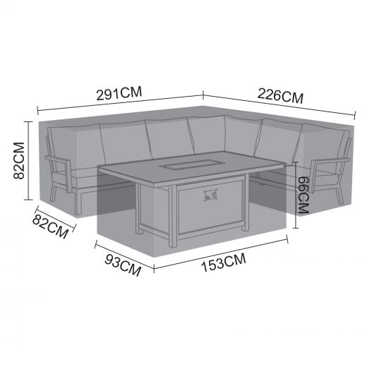 Cover Pack for Vogue Right Hand Corner Dining Set